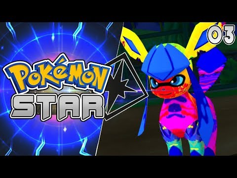 Pokemon Star 3DS Rom Hack Part 3 NEW EEVEELUTION SPLATOONEON! Gameplay Walkthrough
