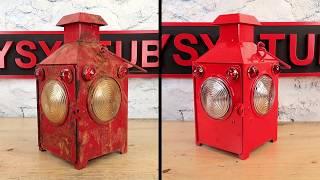 Old Railroad Flame Lantern Restoration