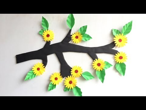 DIY - Wall Hanging from Paper /paper craft /card board craft /Room/ Home decoration idea