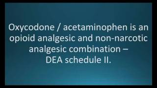 How to pronounce oxycodone acetaminophen (Percocet) (Memorizing Pharmacology Flashcard)