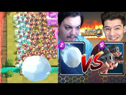 24062018 Kraliyet Domuzuna Dev Kar Topu Attım Clash Royale