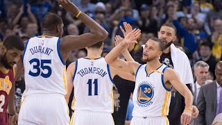 Golden State Warriors Fired Up Moments : GSW Go On a 18-3 Run VS CAVS