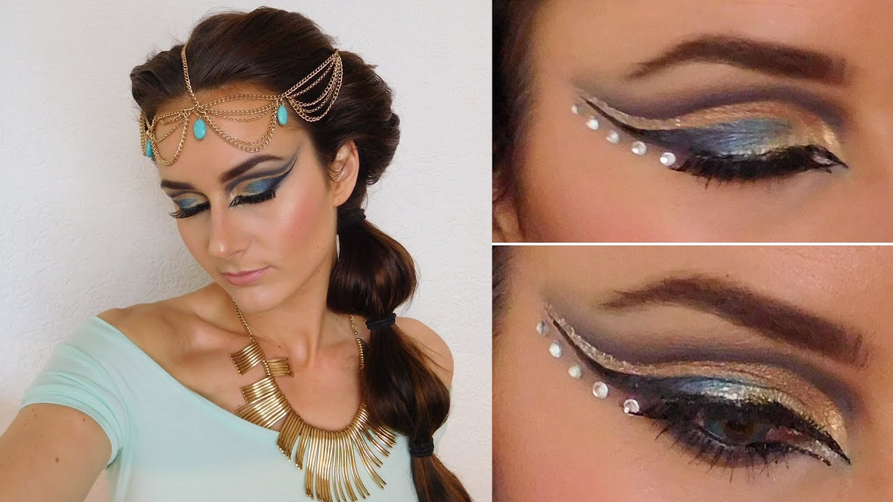 Exotic makeup tutorial inspired by Jasmine (Aladdin ...