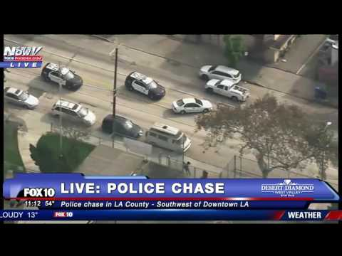 FULL COVERAGE: Police Chase In LA County (FNN)