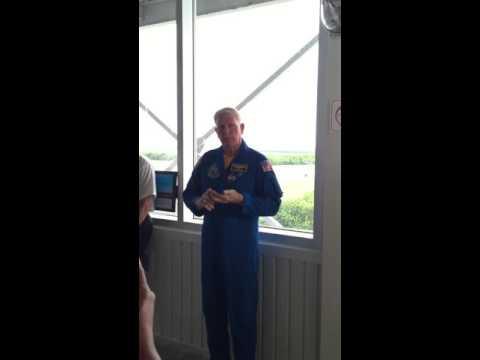 John McBride astronaut- JK Space Centre VIP tour '15 - 4