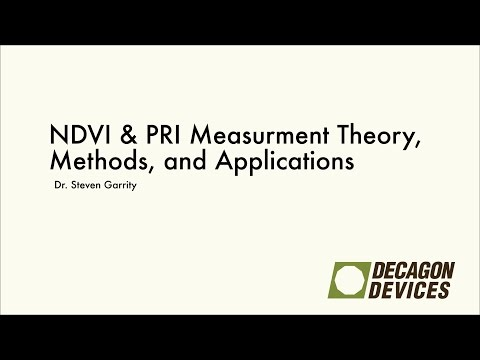 NDVI & PRI Measurement Theory, Methods, and Applications