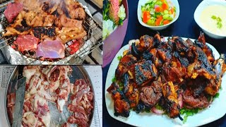 مشاوى العيد افضل واقوى طريقه على اليوتيوب لشوى الكباب بالفحم على البتوجاز