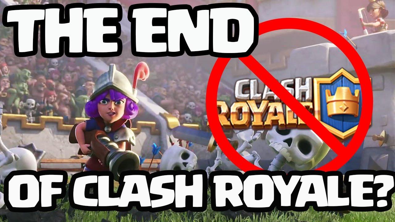 Clash Royale cerrará después de 2 actualizaciones más.