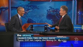 President Obama S Final Visit To The Daily Show