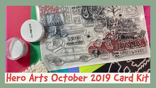 Hero Arts | My Monthly Hero | October 2019 Card Kit