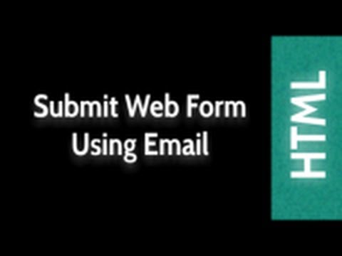 HTML Web Design Tutorials: Send Email Using Web Form Lesson 27