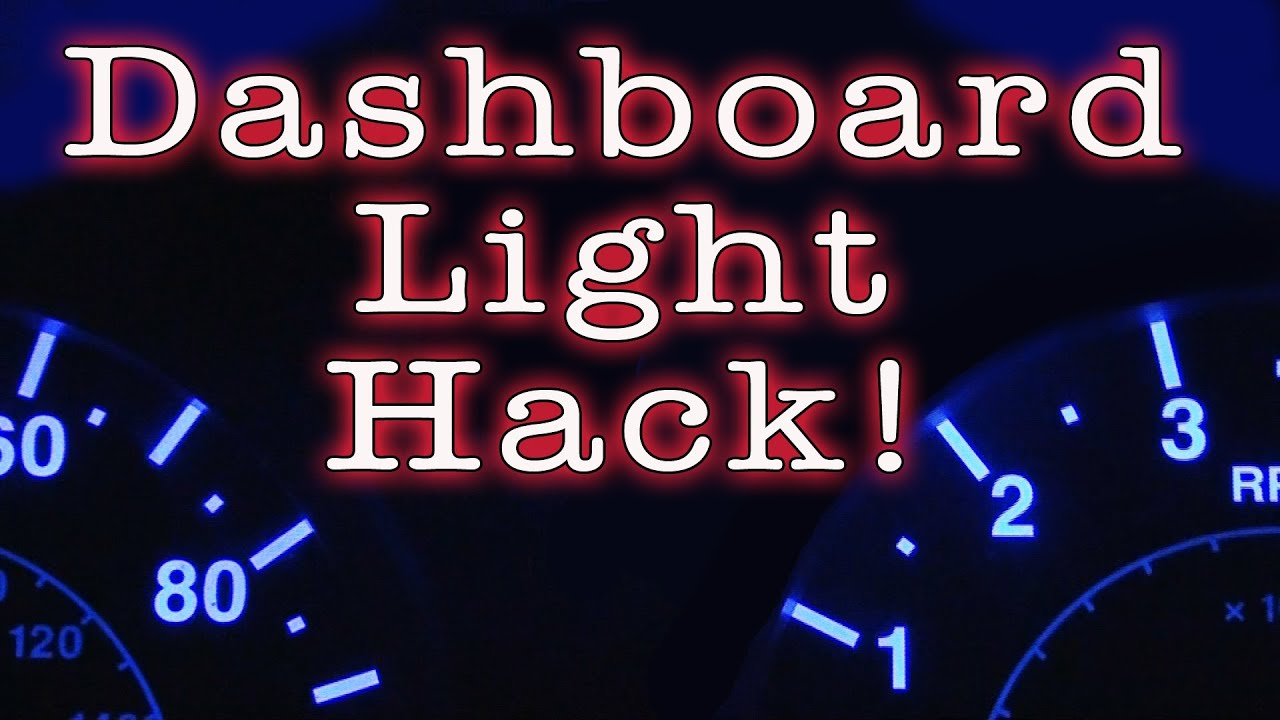 Dashboard Light Hack Youtube 1987 Chevy Truck Cargo Wiring
