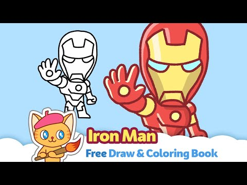 How To Draw Iron Man. | Download Free Draw & Coloring Book