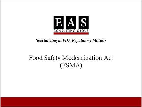 Food Safety Modernization Act (FSMA) Expertise