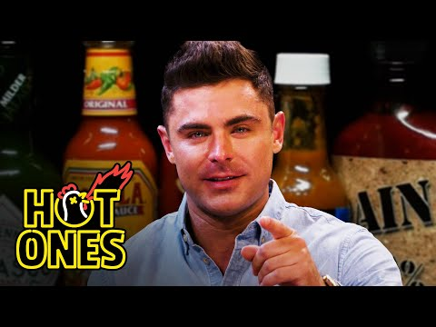 Zac Efron Ups the Ante While Eating Spicy Wings | Hot Ones