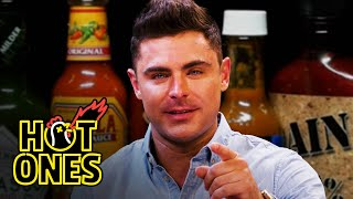 Zac Efron Ups the Ante While Eating Spicy Wings   Hot Ones