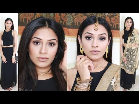 Day to Night Makeup | American to Indian Tamil | Outfit Transformation