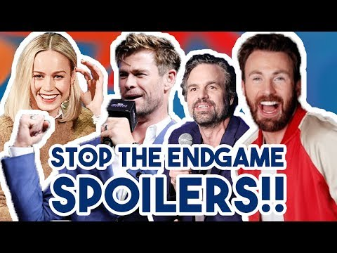 AVENGERS CAST TRY NOT TO GIVE ENDGAME SPOILERS FOR 7 MINUTES  FUNNY MOMENTS