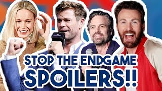 AVENGERS CAST TRY NOT TO GIVE ENDGAME SPOILERS FOR 7 MINUTES | FUNNY MOMENTS