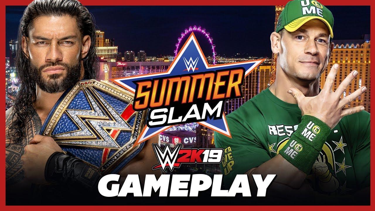 EPIC FINISH! John Cena vs Roman Reigns (c) SummerSlam 2021 - WWE 2K19 Gameplay
