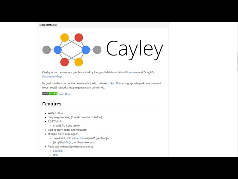 Demo of Cayley - Graph Database written in Go