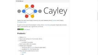 Demo of Cayley - Graph Database written in Go