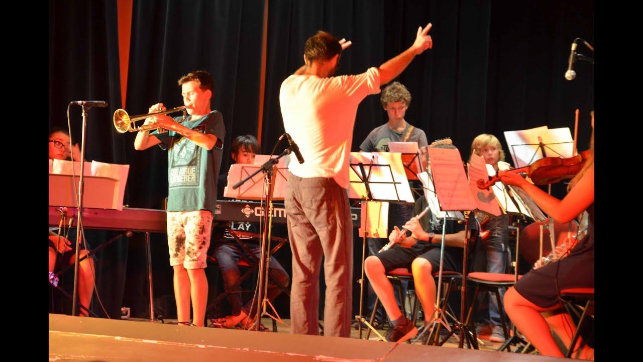 pont de vaux 1er stage jazz en herbe concert salle