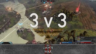 Dawn of War 2 - 3v3 | Disposable_Heroes + BATPIMP + Techno. [vs] PapaNurgle + Snuffles + tom.woehlke