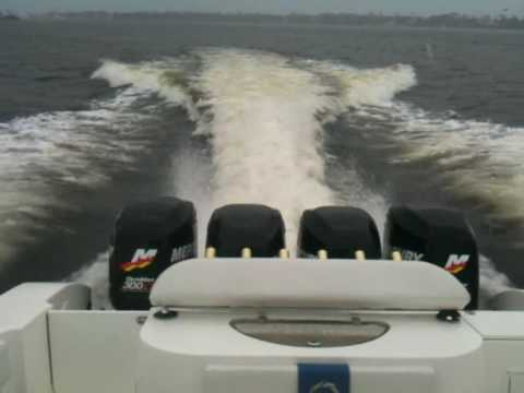 Worlds Fastest Offshore fishing boat (38 Fountain with quad 300 Mercury Optimax)
