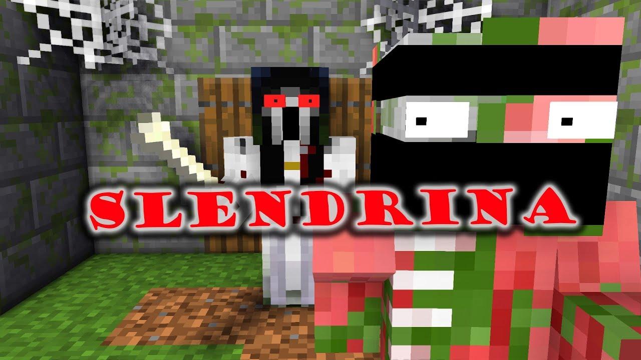Monster School : SCARY SLENDRINA THE CELLAR CHALLENGE - Minecraft Animation