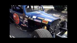Early 1970's Modified dirt track racers start up and rev!