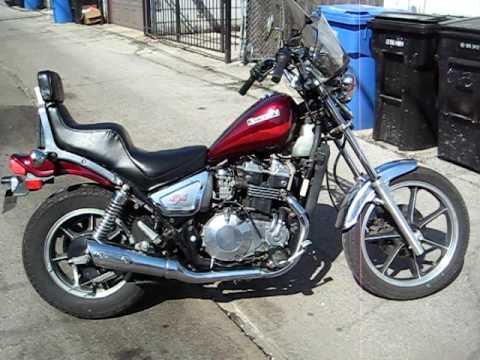 1986 Kawasaki 454LTD - YouTube