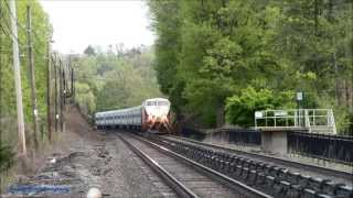 Wassaic Express Train with Rear Horn @ Mt Pleasant (Harlem Line)