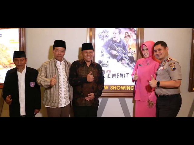 Nobar Film #22Menit Polres Kebumen di Platium Cineplex Artos Mall Magelang