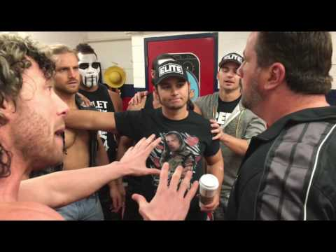 Steve Corino confronts Adam Page and Bullet Club