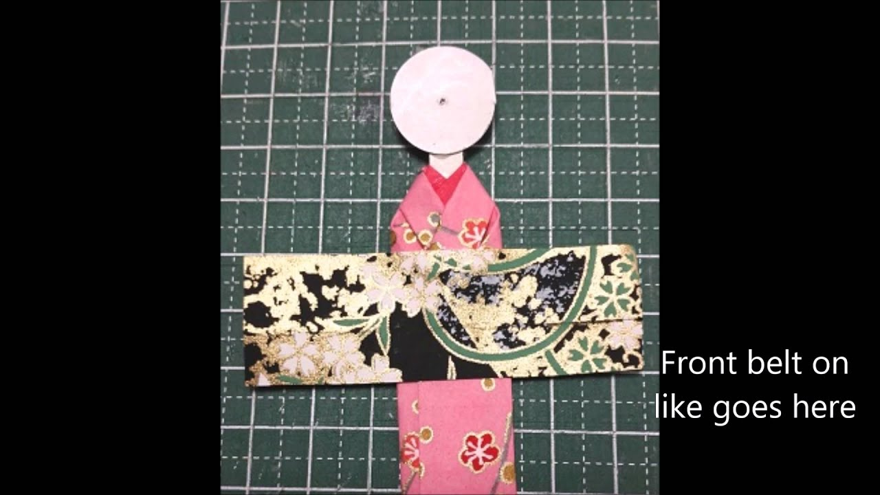 How to make a Japanese Paper Doll