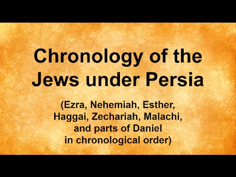 Chronology of the Jews under Persia