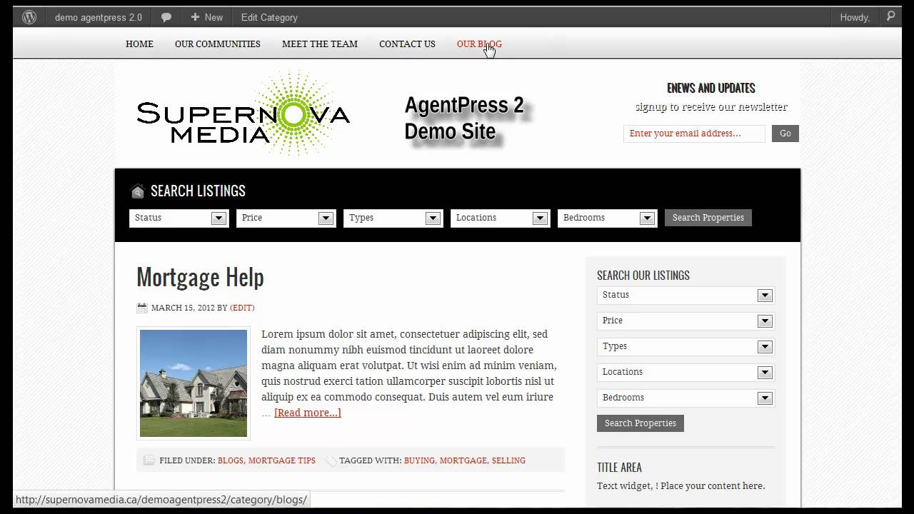 Category Blogs  >> Wordpress Adding A Page Post Category And Menu To Your Agentpress