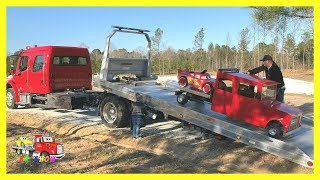 Rollback Hauling The Broke Down Mini Rollback with Powered Ride On Lightning McQueen Car