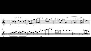Transcription: Bob Malach - Too Hot To Touch