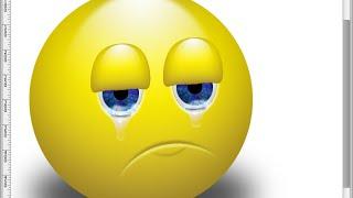 Урок по PhotoShop - Плачит смайлик