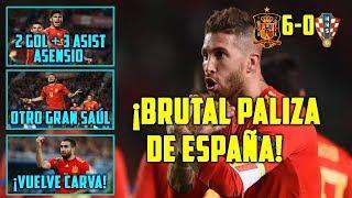 ESPAÑA DESTROZA A CROACIA (6-0) | EXHIBICIÓN DE ASENSIO | SAÚL BRILLA | LUCHO SEÑALA EL CAMINO
