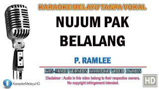 P. Ramlee - Nujum Pak Belalang   Karaoke   Tanpa Vokal   Minus One   Lirik Video HD
