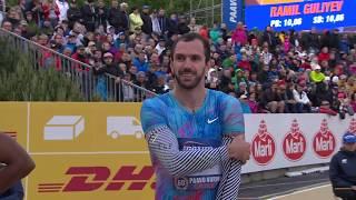 Ramil Guliyev 10.02 Pb - Men's 100m Final - Paavo Nurmi Games June 14, 2017
