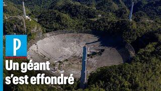 Porto Rico: le radiotéléscope géant d'Arecibo s'est effondré