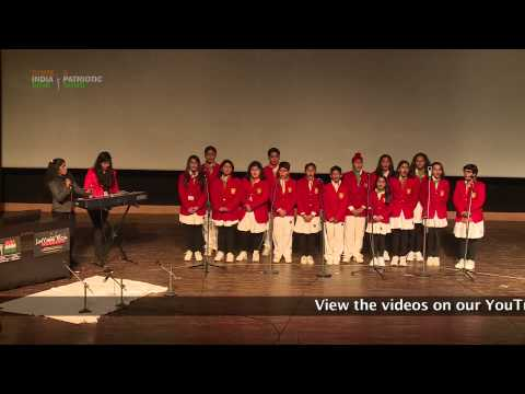 Group Singing Performance: (Patriotic Song) by students of Scottish High International School