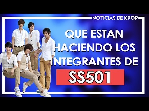 Que Están Haciendo los integrantes de SS501   SS501 NOTICIAS   SHIRO NO YUME