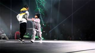 Amazing 6 year-old BGIRL TERRA VS BBOY LEELOU - Chelles Battle Pro 2013