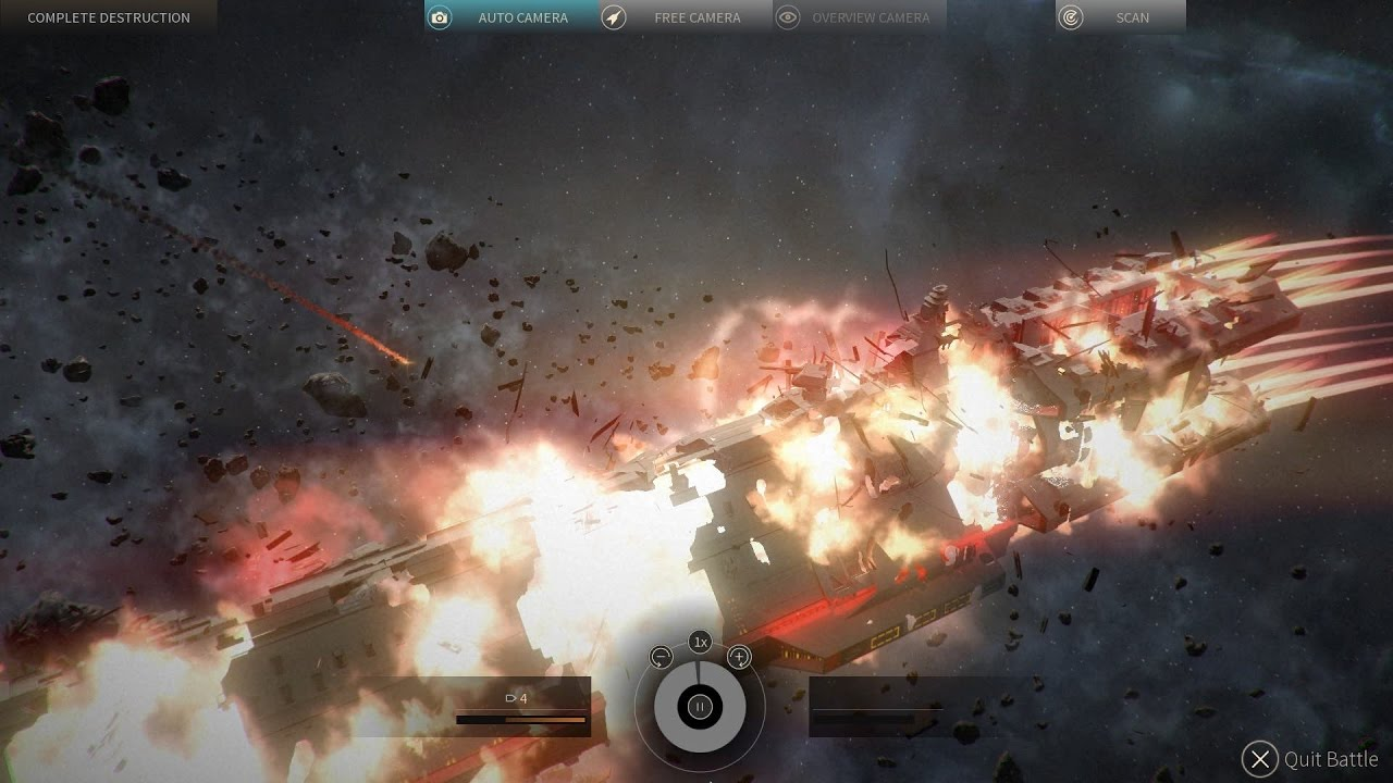 Endless Space 2 - Vodyani vs. United Empire (Big Ships Space Combat) - YouTube