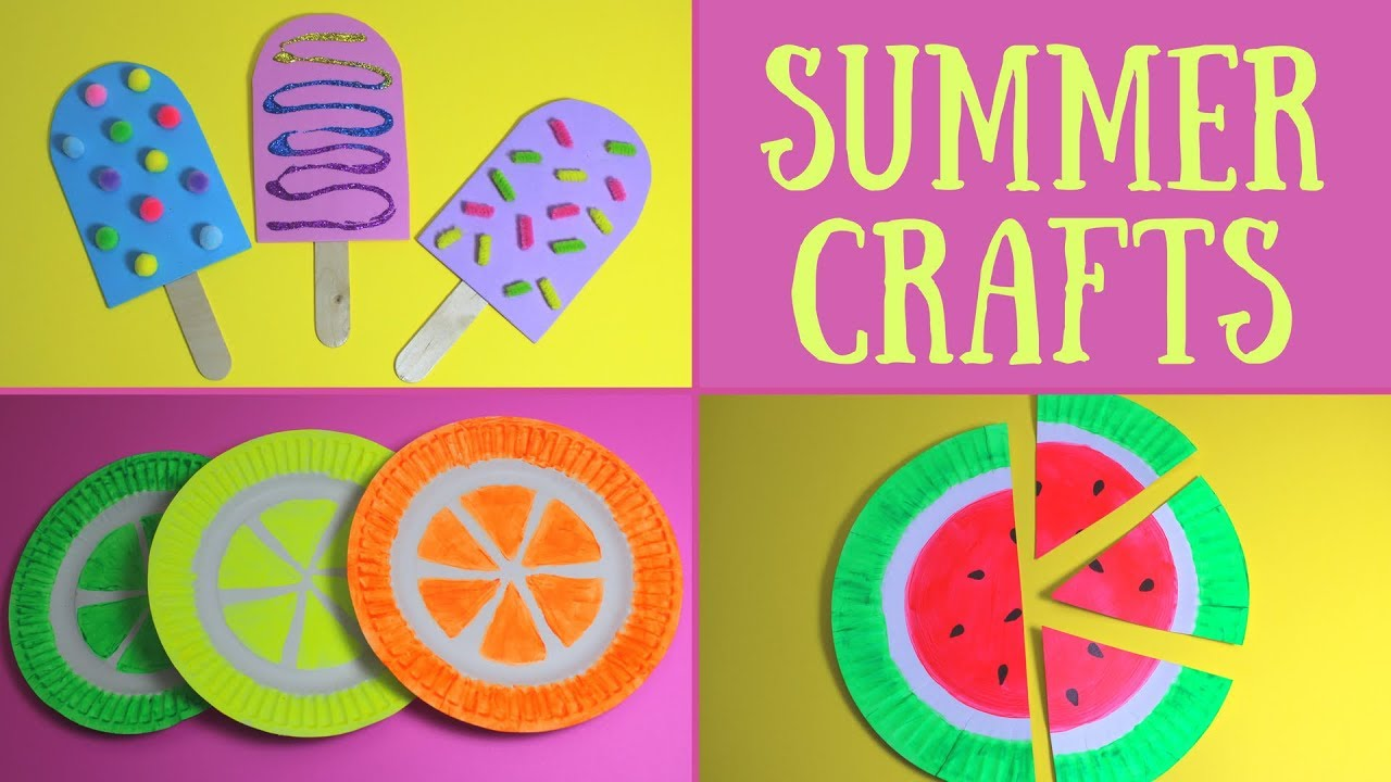 Easy Summer Crafts For Kids Summer Craft Ideas Youtube